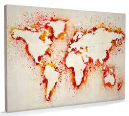 Canvas World Map by Map Of The World Map Abstract Painting Canvas Art A3 To
