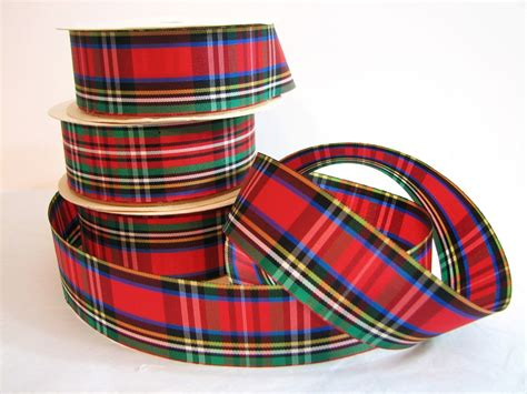 plaid christmas ribbon
