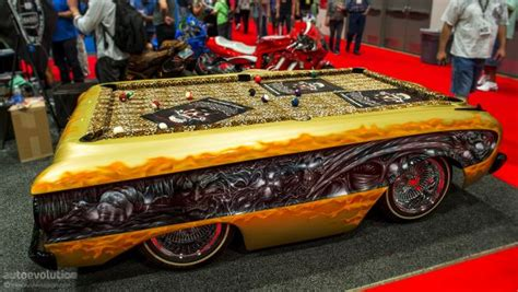 six car inspired pool tables for auto aficionados