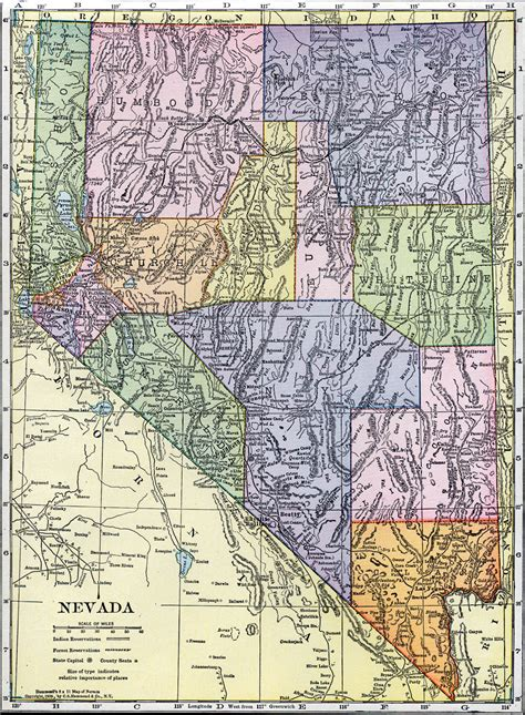 nevada state maps pin nevada state map on