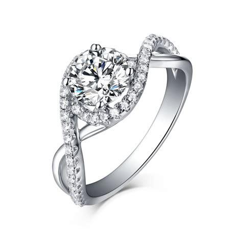 unique cut 925 sterling silver halo white sapphire