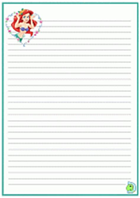 princess writing paper the mermaid writing paper princess ariel writing