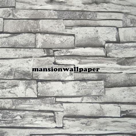 wallpaper batu bata 3d jual wallpaper dinding motif batu bata alam 3d tipe 2