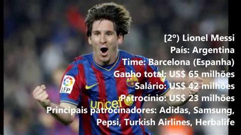 qual e o jogador mas rico 2016 forbes os 10 jogadores de futebol mais bem pagos do mundo