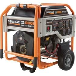 free shipping generac xg10000e portable generator