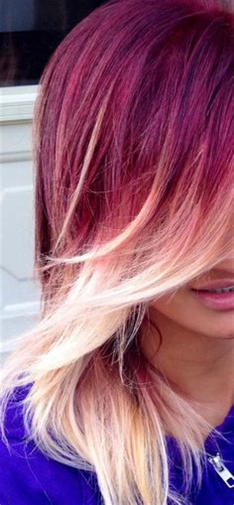 Strawberry Ombr 233 Hair Color My Hair Balayage And Balayage I This And What This Pinner Says Black Hair With Lilac Fade If Only I Could