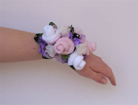 Unique Baby Shower Corsages by I Pears Baby Shower Sock Corsage Wristlets