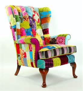 Patchwork Armchairs by Bespoke Patchwork Knoll Armchair Designers Guild Fabric
