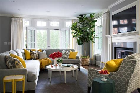 gray and yellow living room yellow and gray living room design ideas