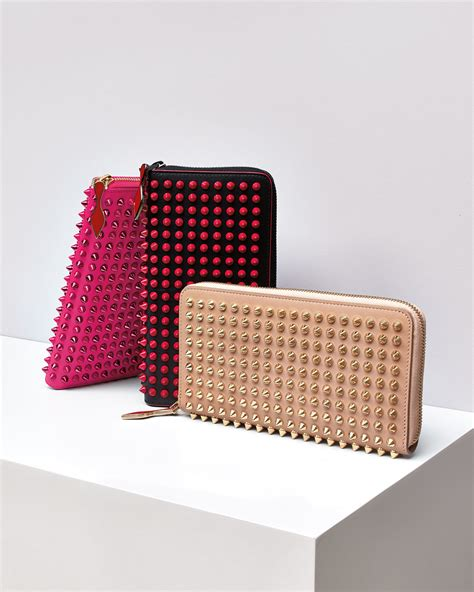 Christian Louboutin Panettone Wallet Review by Christian Louboutin Panettone Spike Stud Continental Wallet In Lyst