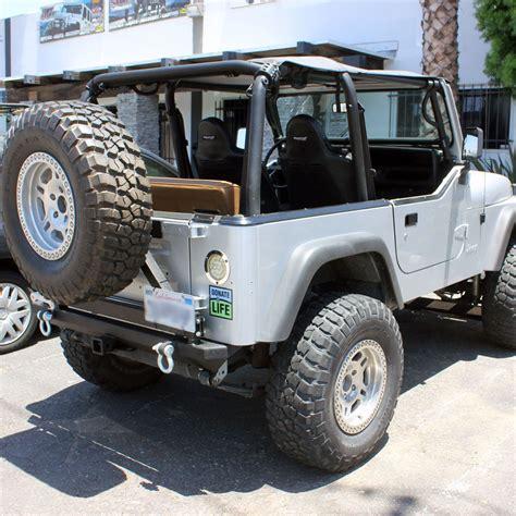 jeep wrangler tj rear bumper 87 06 jeep wrangler yj tj rock crawler rear bumper tire