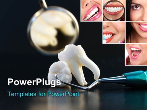 dental powerpoint themes powerpoint template the wisdom tooth with a mirror in the