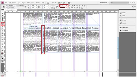 membuat layout koran dengan adobe indesign membuat koran dengan menggunakan adobe indesign cs 3