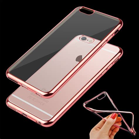 Daiso For Iphone 6 6s 7 Hardcase Clear Black clear silicone bumper cover for apple iphone 7 7 plus 6 6s plus 5 se ebay