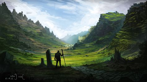 warrior fantasy art digital art artwork nature