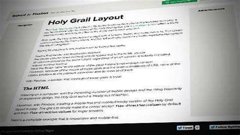 holy grail layout with flexbox solved by flexbox cleaner hack free css