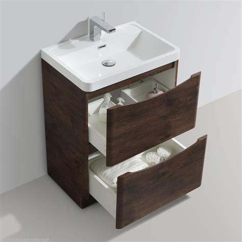 Floor Standing Bathroom Furniture 600mm Designer Chestnut Bathroom Floor Standing Vanity Unit Furniture Basin Ebay