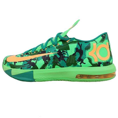 camouflage basketball shoes nike kd vi 6 easer zoom air kevin durant green camo 2014