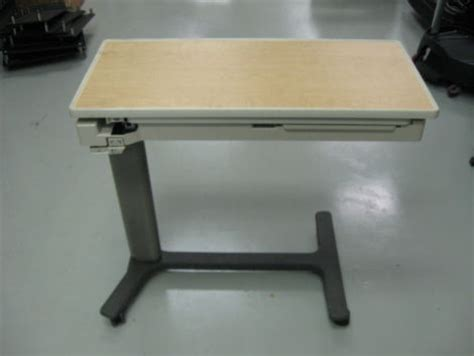 hospital bed table for sale used hill rom pm jr overbed table for sale dotmed