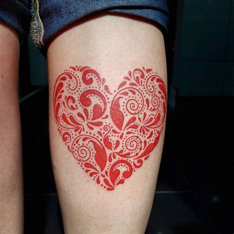 red heart tattoo 21 designs ideas design trends premium