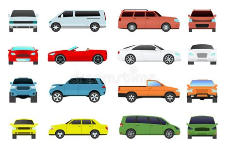Car Types Of Service by Car Types Vector Set Stock Vector Illustration Of