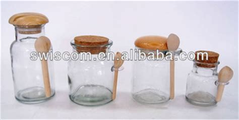 Garam Krosok Kemasan Tabung silinder kaca jar tabung dengan tutup kayu sendok sp146 147 148 149 zb buy product on