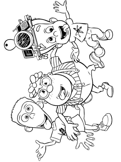 jimmy neutron coloring pages coloringpages1001 com