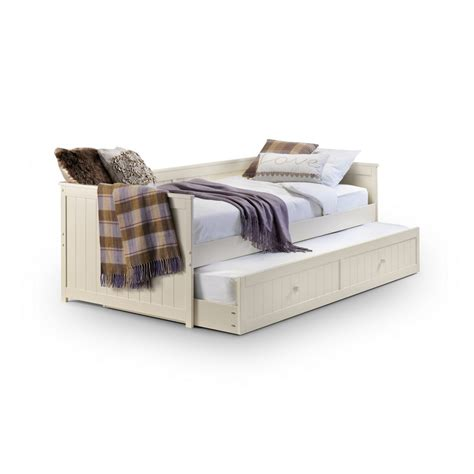 Childrens Pull Out by Day Bed With Pull Out Trundle In White Beds