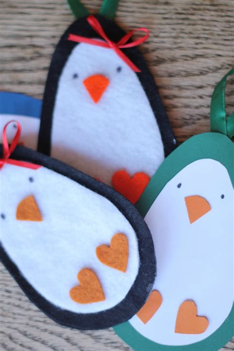 christmas penguin ornament and tag do small things with