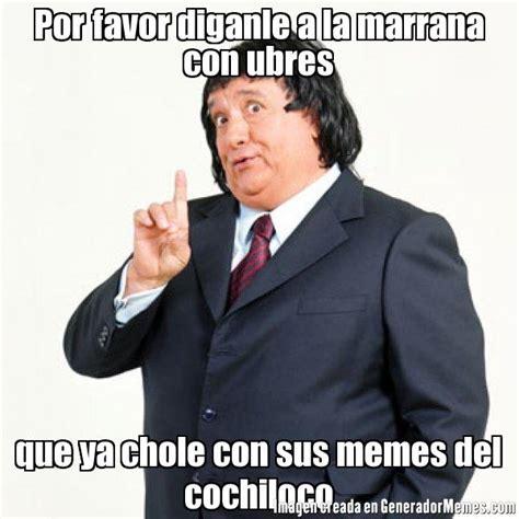 Memes Del Cochiloco - por favor diganle a la marrana con ubres que ya chole con