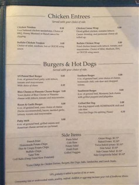 putter s patio grill winston salem menu prices