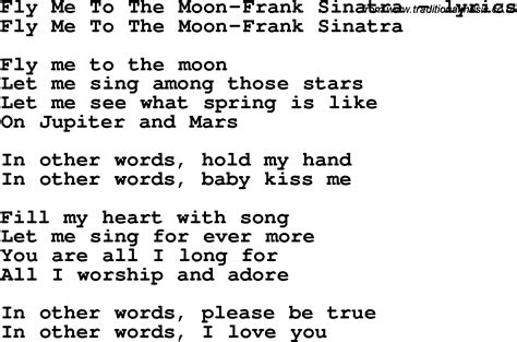 lyrics frank sinatra song lyrics for fly me to the moon frank sinatra