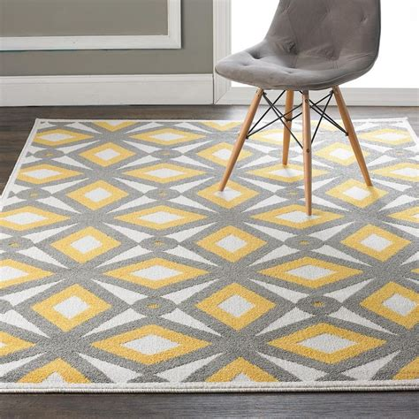 Yellow And Gray Outdoor Rug Modern Kaleidoscope Indoor Outdoor Rug Available In 2 Colors Teal G