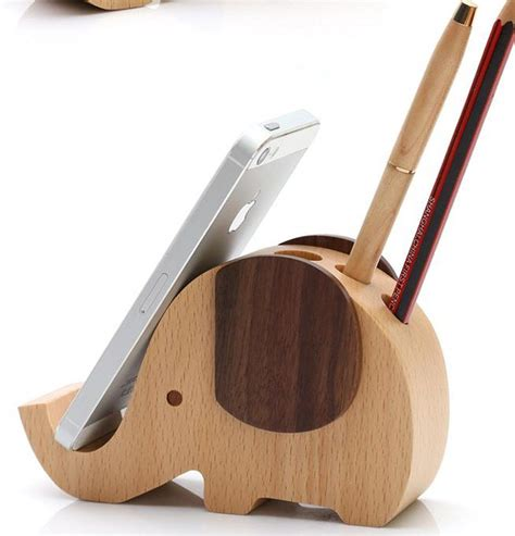 Wood Mobile Holder wood mobile phone stand pen container iphone stand woodenlife woodworking on artfire