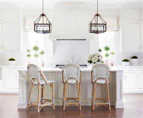 White Kitchen with Black and White French Bistro Counter