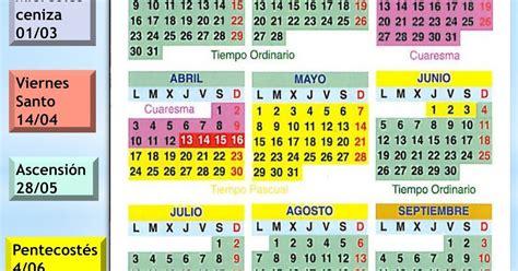 Calendario Liturgico 2017 Parroquia De San Luis Gonzaga Almer 237 A Calendario