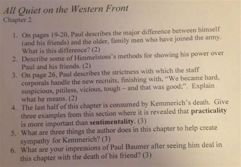 Theme Quotes All Quiet On The Western Front | thesis about all quiet on the western front