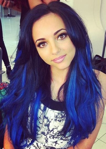 pictures of sapphire black hair with red highlights blue black hair tips and styles dark blue hair dye styles