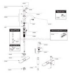 moen kitchen faucet parts diagram moen ca87480 parts list and diagram ereplacementparts