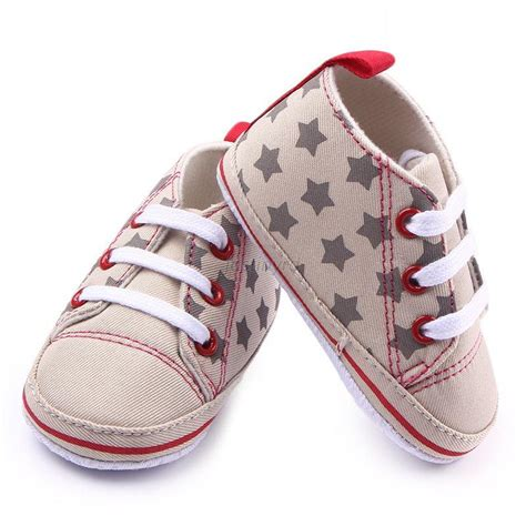 Infant Baby Boy Girl Soft Sole Crib Shoes Sneakers Kids Baby Crib Sneakers