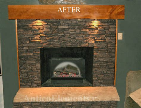 rock panels for fireplace panels