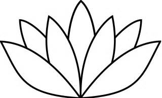 Drawing A Lotus Flower Simple Lotus Flower Drawing Clipart Best