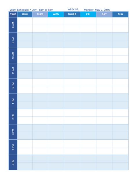 sle of work schedule template sle of work schedule template 28 images work schedule