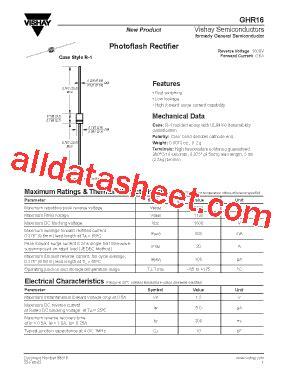 transistor datasheet vishay ghr16 datasheet pdf vishay siliconix