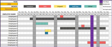 vacation schedule templates 10 free word excel pdf format