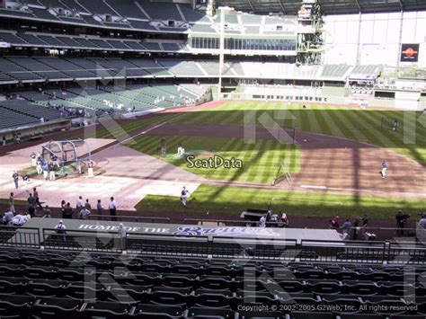 miller park family section miller park section 213 seat view loge diamond box