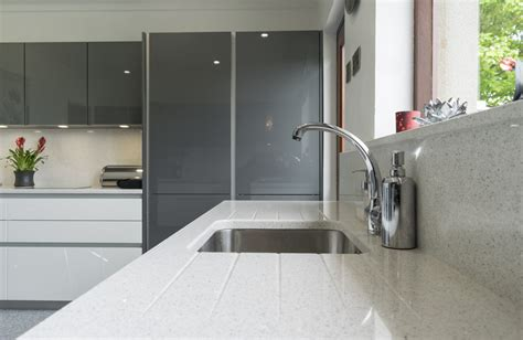 Metallic Grey Handle less Kitchen   Kitchens Northern Ireland
