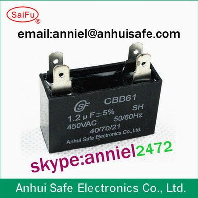 voltage across a cling capacitor cbb61 ac motor capacitor plastic ceiling fan capacitor square shape 250vac 450vac low
