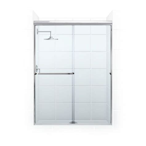 Towel Bar For Glass Shower Door Coastal Shower Doors Paragon 3 16 B Series 52 In X 65 In Semi Framed Sliding Shower Door With