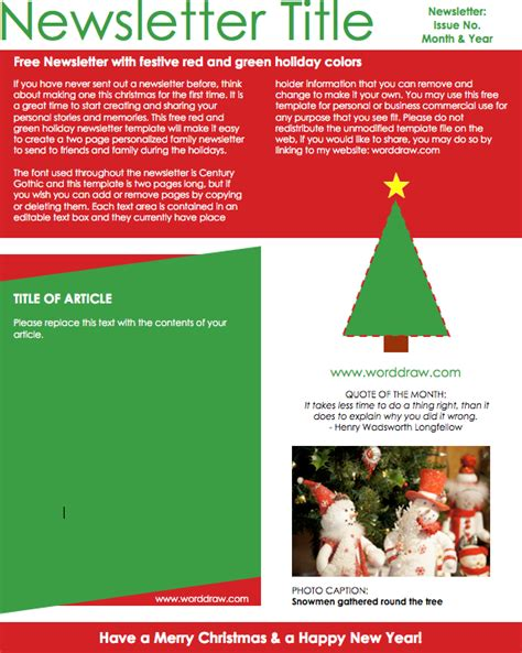 christmas newsletter templates for pages christmas email templates for the upcoming holiday mailing